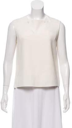Balenciaga Silk Square Neck Blouse