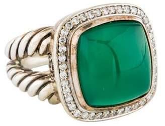 David Yurman Dyed Chalcedony & Diamond Albion Ring