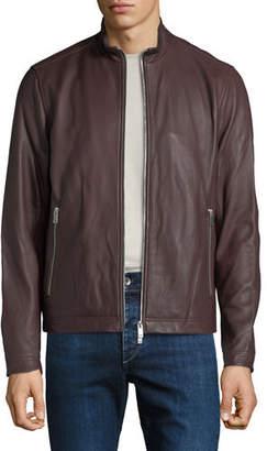 Theory Men's Kelleher Morvek Zip-Front Leather Jacket