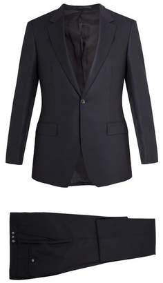 Kilgour Birdseye Single Breasted Wool Suit - Mens - Navy