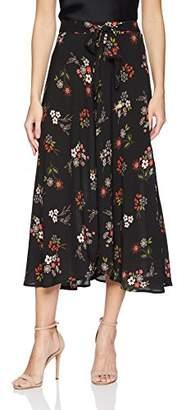 Velvet by Graham & Spencer Women's Swan Floral Long Skirt