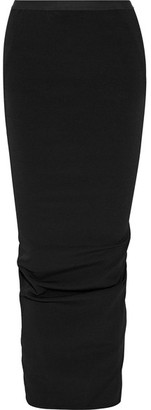 Rick Owens - Cotton-blend Faille Maxi Skirt - Black $605 thestylecure.com