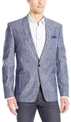 Ben Sherman Men's Two Button Paisley Cotton Blazer