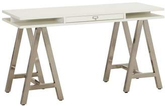 Pottery Barn Teen Customize It Storage A Frame Desk, Simply White with Galvi Base