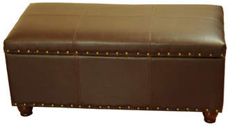 Charlton Home Rohrbaugh Faux Leather Storage Bench