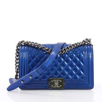 Chanel Boy patent leather crossbody bag
