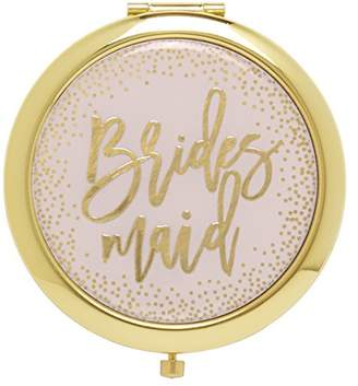 C.R. Gibson Pink and Gold Bridesmaid Pocket Compact Mirror Gift