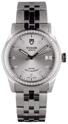 Tudor Glamour 55020 Diamond Dial Diamond Bezel Bracelet Womens Watch