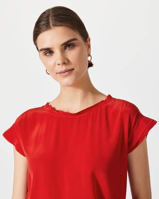 Jigsaw Layered Sleeve Silk Front Top