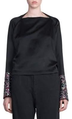 Haider Ackermann Sequin Embellished Top