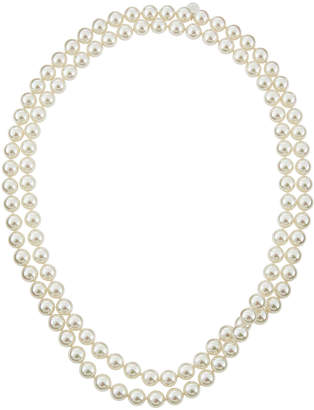 Majorica Single-Row Endless Pearl Necklace White