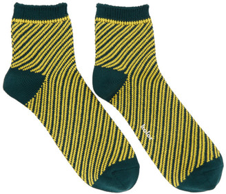 Kolor Green Striped Socks $80 thestylecure.com