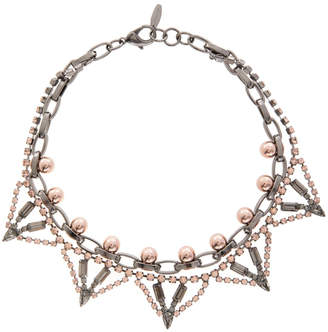 Joomi Lim Modern Muse Crystal and Sphere Necklace