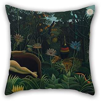 Camilla And Marc Best Nest Wellness bestseason The oil painting Henri Rousseau - Le RÃave throw cushion covers of ,16 x 16 inches / 40 by 40 cm decoration,gift for couples,bar,home theater,couples,bedding,divan (double sides)