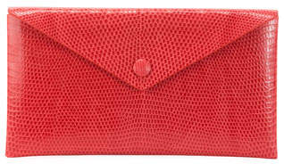 Alaia Louise Lizard Envelope Clutch Bag
