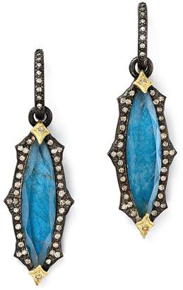Armenta 18K Yellow Gold & Blackened Sterling Silver Labradorite Triplet Marquise Drop Earrings