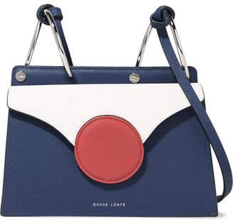 Lente Danse Phoebe Mini Color-block Textured-leather Shoulder Bag - White