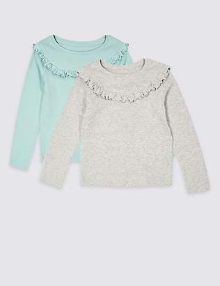 Marks and Spencer 2 Pack Cotton Rich Tops (3 Months - 7 Years)