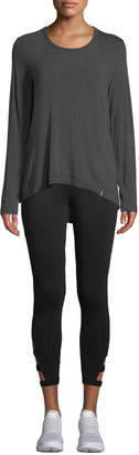 Marc Ny Performance Long-Sleeve Luxe Jersey High-Low Tunic