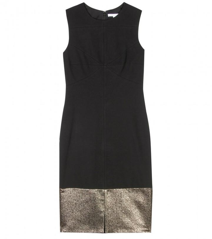 Diane von Furstenberg BLEE SHEATH DRESS WITH GOLD LUREX TRIM
