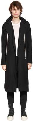 Rick Owens Hooded Viscose Cady Soft Trench Coat