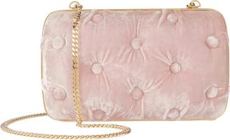 Benedetta Bruzziches Carmen Tufted Pink Velvet Clutch Pink 1SIZE