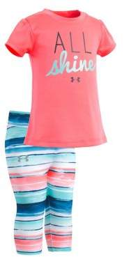Under Armour Baby Girl's Two-Piece All Shine Tee and Leggings Set