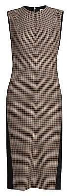 Victoria Beckham Women's Plaid-Front Sheath Dress