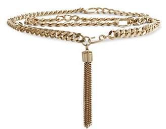 Reiss Cleo Tassel Chain Belt