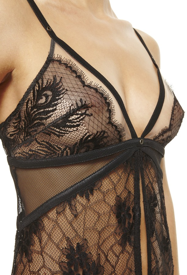 Babydoll La Perla Black Label Extasy With Matching Thong