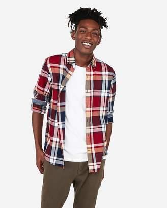 Express Classic Plaid Pocket Button-Down Shirt
