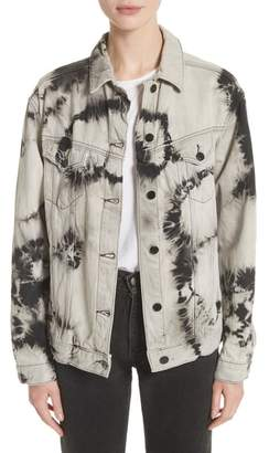Ashley Williams Western Tie Dye Denim Jacket