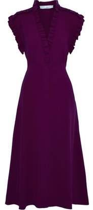 IRO Hurray Ruffle-trimmed Stretch-crepe Midi Dress