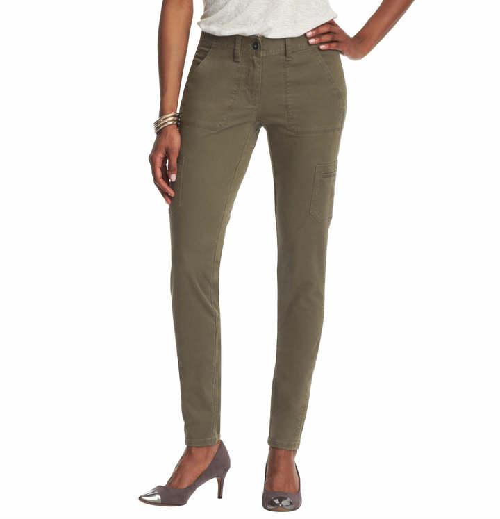 LOFT Petite Julie Super Skinny Cargo Pants in Stretch Cotton Twill