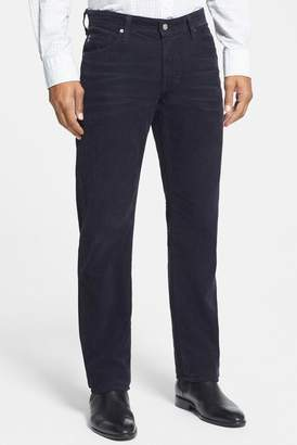 AG Graduate Tailored Straight Leg Corduroy Pant $198 thestylecure.com