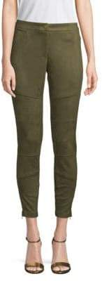 Laundry by Shelli Segal Faux-Suede Moto Skinny Pants