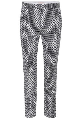 Tory Burch Cropped block jacquard trousers