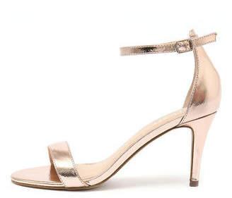New Verali Matthew Rose Gold Metallic Womens Shoes Dress Sandals Heeled