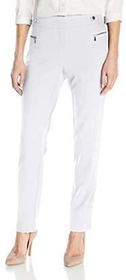Calvin Klein Women's Slim Fit Dress Pant with Zipper Hardware