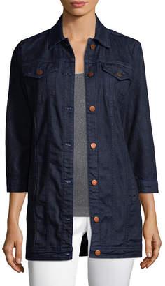 J Brand Button-Front Denim Jacket