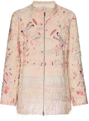By Walid Samia wadded silk jacket