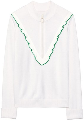 Tory Sport Tory SportTory Burch PERFORMANCE CASHMERE RUFFLE SWEATER