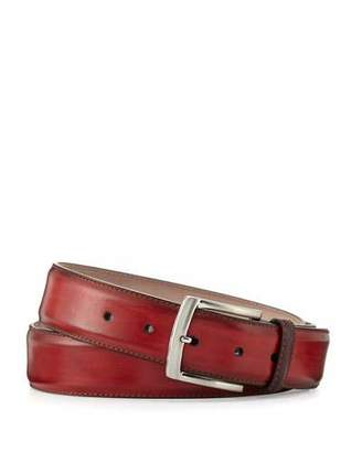 Magnanni for Neiman Marcus Square-Buckle Calf Leather Belt $175 thestylecure.com