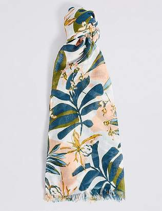 Marks and Spencer Palm Print Scarf