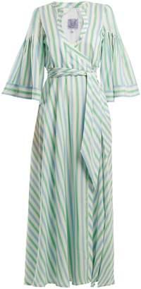 Thierry Colson Sultane striped silk maxi dress