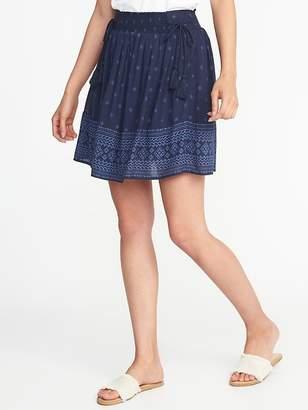 Old Navy Tie-Waist Crinkle-Gauze Mini Skirt for Women