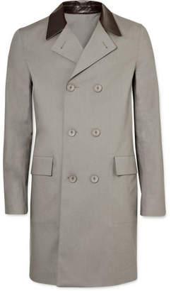 Balenciaga Leather Trim Raincoat