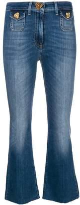 Elisabetta Franchi cropped flared jeans