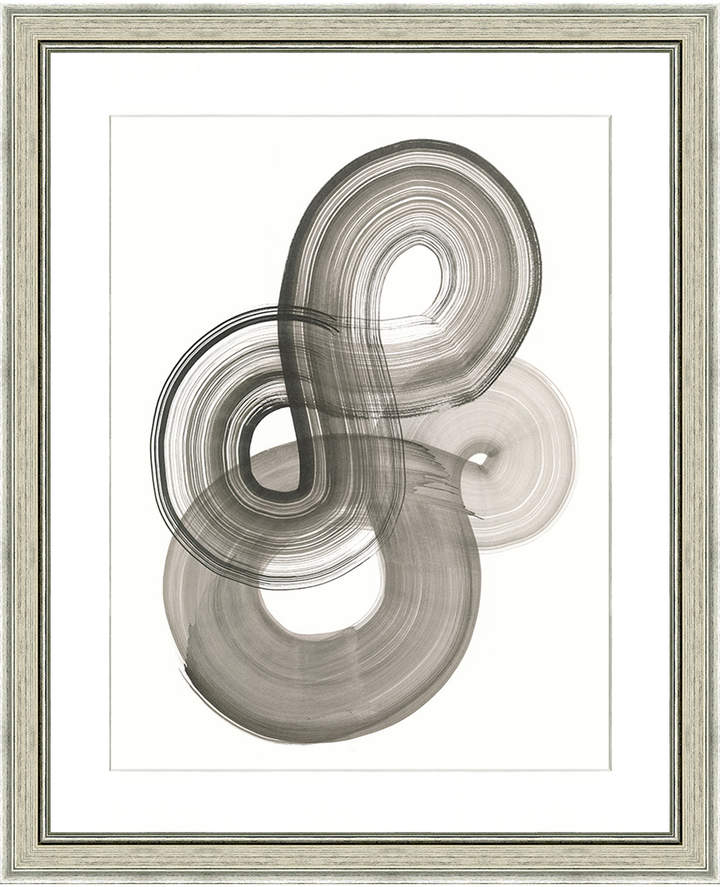 Art Source Black Loop Abstract Print II (Framed Giclee)