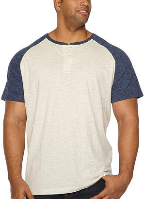 Co THE FOUNDRY SUPPLY The Foundry Big & Tall Supply Short Sleeve Henley Shirt-Big and Tall